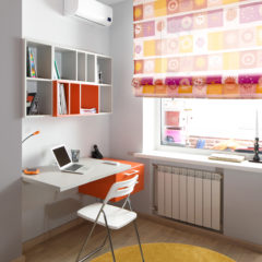 bright and beautiful interior of children room